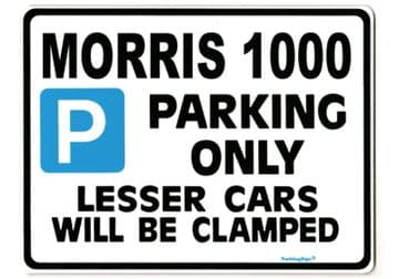 Morris 1000 Large Metal Sign for minor  Gift/Present