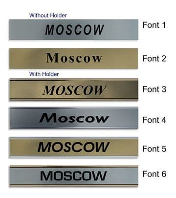 Moscow Clock Name Plate |World Time Zone City Wall clocks Sign custom Plaque