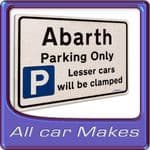 New Car Gifts any Car Make Parking Signs Brushed Metal