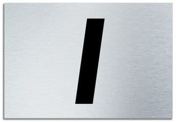 Number 1 Contemporary House  Plaque | Brusher Aluminium modern door sign
