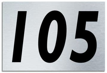 Number 105 Contemporary House  Plaque | Brusher Aluminium modern door sign