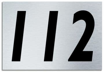 Number 112 Contemporary House  Plaque | Brusher Aluminium modern door sign