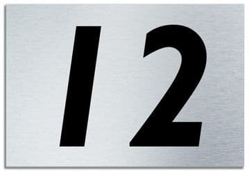 Number 12 Contemporary House  Plaque | Brusher Aluminium modern door sign