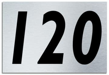 Number 120 Contemporary House  Plaque | Brusher Aluminium modern door sign