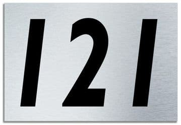 Number 121 Contemporary House  Plaque | Brusher Aluminium modern door sign
