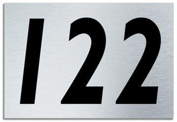 Number 122 Contemporary House  Plaque | Brusher Aluminium modern door sign
