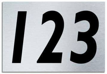 Number 123 Contemporary House  Plaque | Brusher Aluminium modern door sign