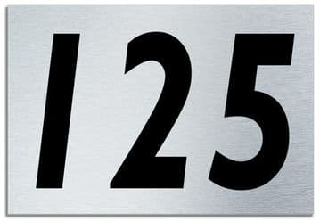 Number 125 Contemporary House  Plaque | Brusher Aluminium modern door sign