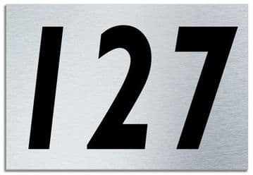 Number 127 Contemporary House  Plaque | Brusher Aluminium modern door sign