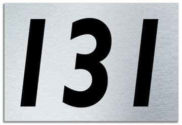 Number 131 Contemporary House  Plaque | Brusher Aluminium modern door sign