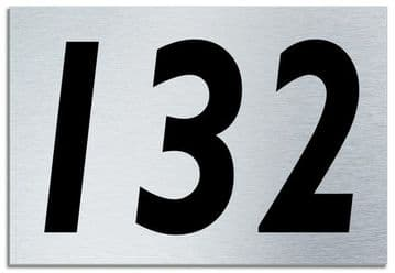 Number 132 Contemporary House  Plaque | Brusher Aluminium modern door sign