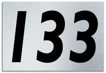 Number 133 Contemporary House  Plaque | Brusher Aluminium modern door sign