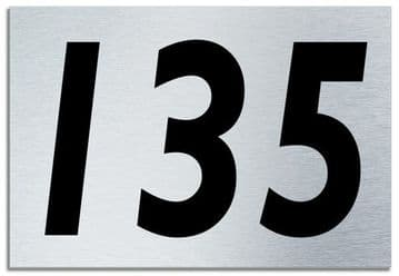 Number 135 Contemporary House  Plaque | Brusher Aluminium modern door sign