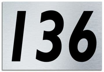 Number 136 Contemporary House  Plaque | Brusher Aluminium modern door sign