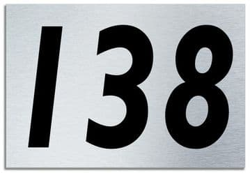 Number 138 Contemporary House  Plaque | Brusher Aluminium modern door sign