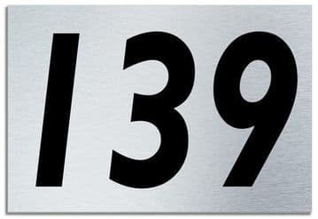 Number 139 Contemporary House  Plaque | Brusher Aluminium modern door sign