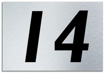 Number 14 Contemporary House  Plaque | Brusher Aluminium modern door sign