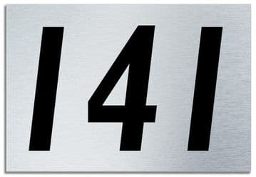 Number 141 Contemporary House  Plaque | Brusher Aluminium modern door sign
