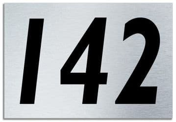 Number 142 Contemporary House  Plaque | Brusher Aluminium modern door sign