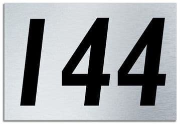 Number 144 Contemporary House  Plaque | Brusher Aluminium modern door sign