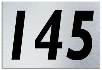 Number 145 Contemporary House  Plaque | Brusher Aluminium modern door sign