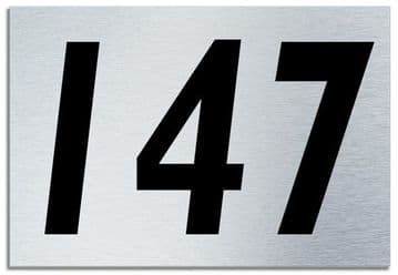 Number 147 Contemporary House  Plaque | Brusher Aluminium modern door sign