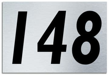 Number 148 Contemporary House  Plaque | Brusher Aluminium modern door sign