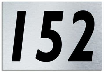 Number 152 Contemporary House  Plaque | Brusher Aluminium modern door sign