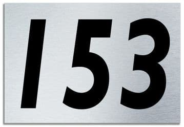 Number 153 Contemporary House  Plaque | Brusher Aluminium modern door sign