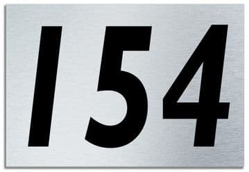 Number 154 Contemporary House  Plaque | Brusher Aluminium modern door sign