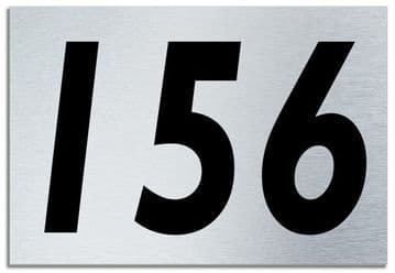 Number 156 Contemporary House  Plaque | Brusher Aluminium modern door sign