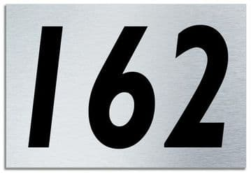 Number 162 Contemporary House  Plaque | Brusher Aluminium modern door sign