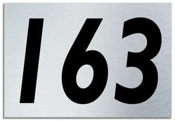 Number 163 Contemporary House  Plaque | Brusher Aluminium modern door sign
