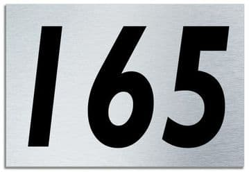 Number 165 Contemporary House  Plaque | Brusher Aluminium modern door sign