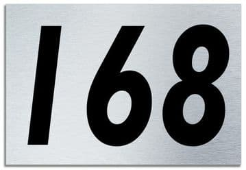 Number 168 Contemporary House  Plaque | Brusher Aluminium modern door sign