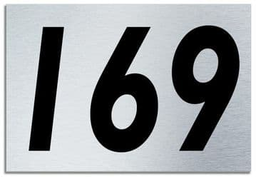 Number 169 Contemporary House  Plaque | Brusher Aluminium modern door sign