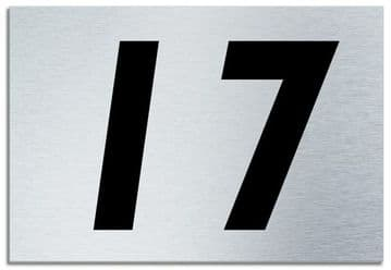 Number 17 Contemporary House  Plaque | Brusher Aluminium modern door sign