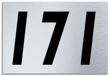 Number 171 Contemporary House  Plaque | Brusher Aluminium modern door sign