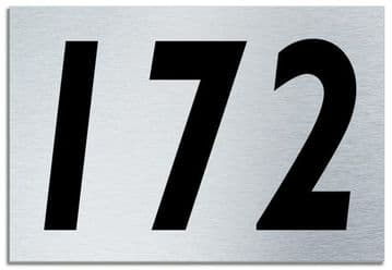 Number 172 Contemporary House  Plaque | Brusher Aluminium modern door sign