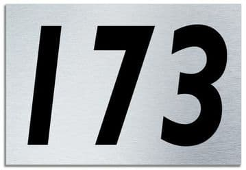 Number 173 Contemporary House  Plaque | Brusher Aluminium modern door sign