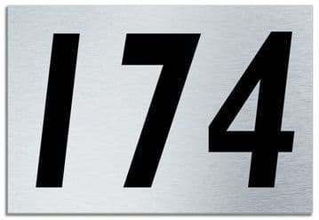 Number 174 Contemporary House  Plaque | Brusher Aluminium modern door sign