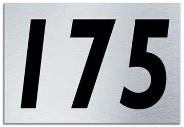 Number 175 Contemporary House  Plaque | Brusher Aluminium modern door sign