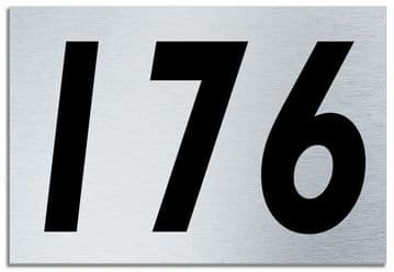 Number 176 Contemporary House  Plaque | Brusher Aluminium modern door sign