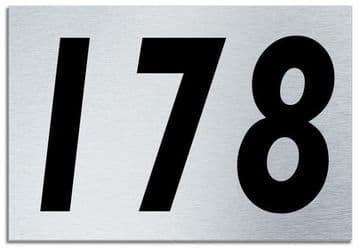 Number 178 Contemporary House  Plaque | Brusher Aluminium modern door sign