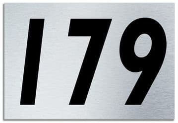 Number 179 Contemporary House  Plaque | Brusher Aluminium modern door sign