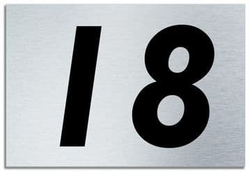 Number 18 Contemporary House  Plaque | Brusher Aluminium modern door sign