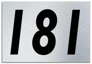 Number 181 Contemporary House  Plaque | Brusher Aluminium modern door sign
