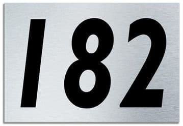 Number 182 Contemporary House  Plaque | Brusher Aluminium modern door sign