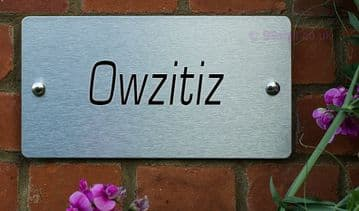 Owzitiz  -Funny House Name Sign Plaque- Ideal housewarming gift