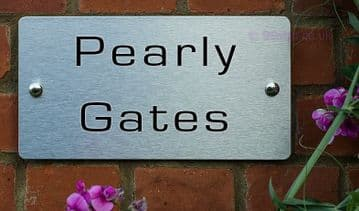 Pearly Gates  -Funny House Name Sign Plaque- Ideal housewarming gift
